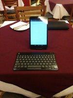 tablet z przenośną klawiaturą